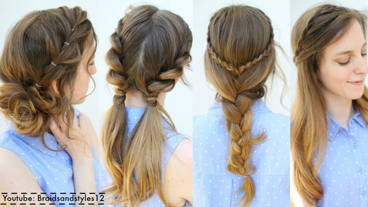 Cute Easy Hair Styles For Long Hair: 4 Easy Summer Hairstyle Ideas
