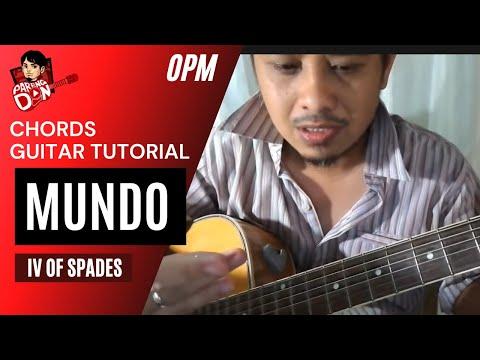 Guitar tutorial: Chords of MUNDO - IV of Spades