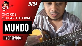 Baixar Guitar tutorial: Chords of MUNDO - IV of Spades Music