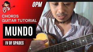 MUNDO (Guitar tutorial) chords easy acoustic - IV of Spades | Pareng Don Tutorials