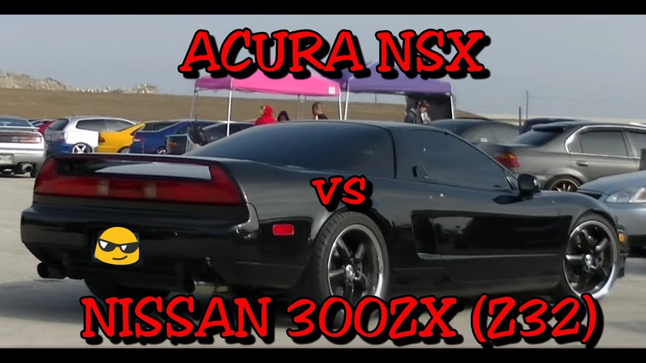 acura nsx vs nissan 300zx - youtube