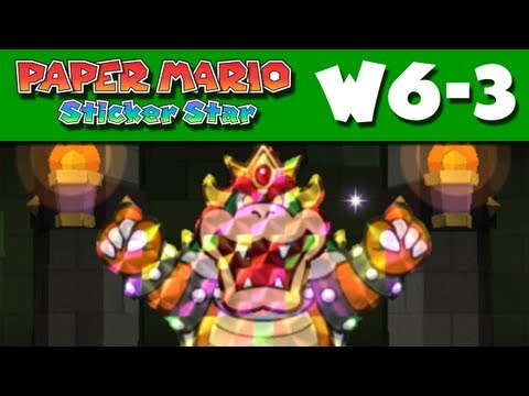 Paper Mario Sticker Star - W6-3 - Bowser's Sky Castle - Final Boss Fight and Ending! (Nintendo 3DS)