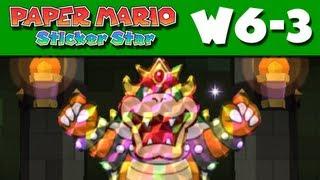 Paper Mario Sticker Star - W6-3 - Bowser