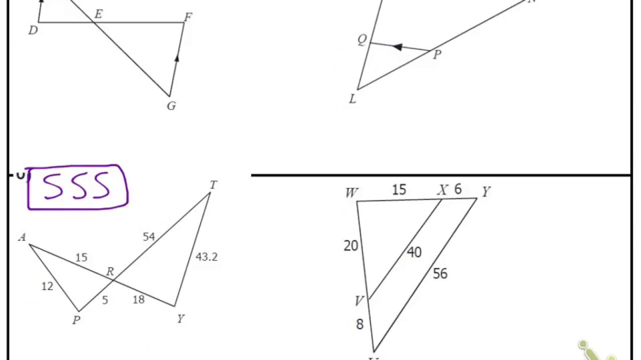 Similiarity: Proving Triangles Similar Regarding Proving Triangles Similar Worksheet