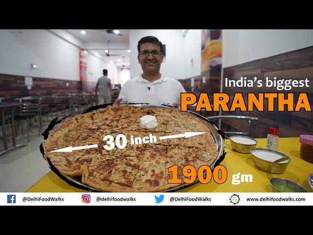 ROHTAK Food Tour I INDIA'S BIGGEST PARANTHA -1900 GM/30 + Tangri Kebab + REWRI/Gajak + Chana SOUP