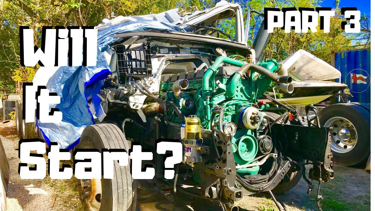 Rebuilding The CRAZY Wrecked Totaled SALVAGE 2019 VOLVO VNL Semi | Rollover  Copart Project |PART 3|