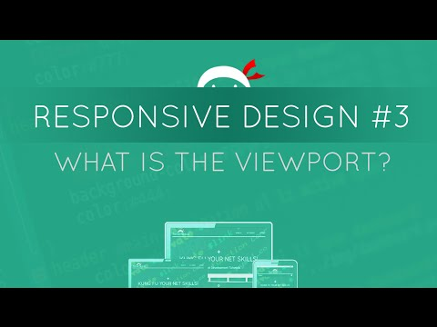 Responsive Web Design Tutorial #3 - Intro To The Viewport