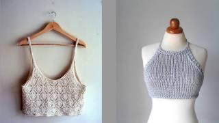 Вязание спицами летних топиков, туник и кофточек (knitting).