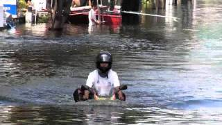 motorcycle in the water