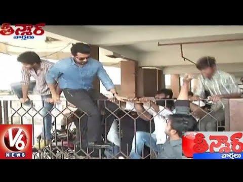 Hero Suriya Jumps Theatre Gate To Escape From Fans in Rajahmundry | Teenmaar News