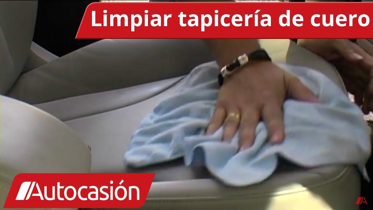 b9112ff9 Cómo limpiar la tapicería de cuero del coche - YouTube