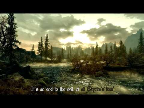 The Dragonborn Comes - Skyrim Bard Song [Subtitles + Karaoke]