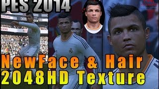 PES 2014 • C. Ronaldo New Face 2048HD Texture, Hair 2048HD Texture | Real Madrid Download • HD Thumbnail