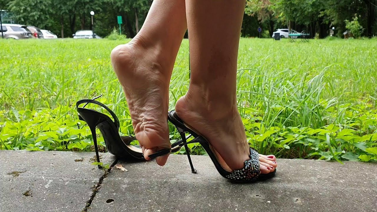 nando muzi high heels with straps down, slingback walk, high heels play, shoeplay (scenes 236)