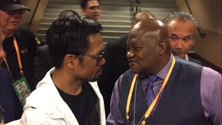 EPIC!! MANNY PACQUIAO & KEITH THURMAN'S FATHER SHARE HUMBLE MOMENT AFTER FIGHT