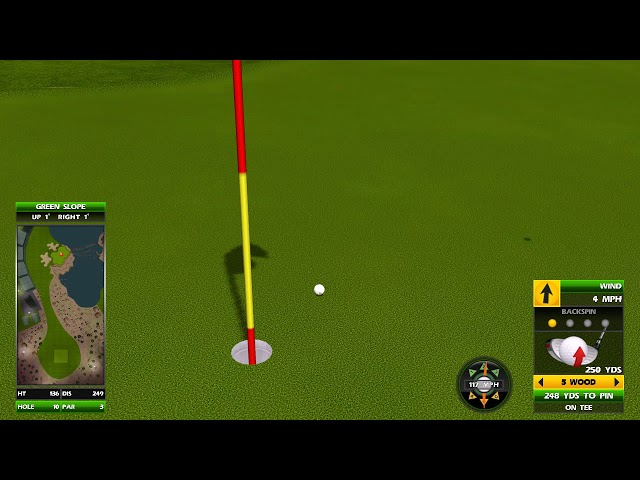 Golden Tee Great Shot on Agave Ranch!