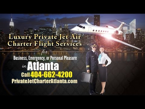 Private Jet Charter Flight From or To Augusta, Columbus, Savannah, Atlanta GA