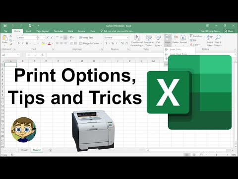 Excel Print Options, Tips and Tricks 2018 Tutorial