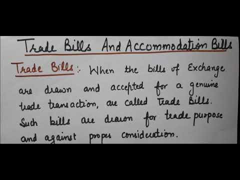 Bills of Exchange ||Class11||Trade Bill and Accommodation Bill