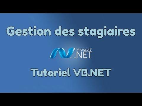 Tutoriel VB NET : TP   Application de gestion des stagaires