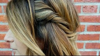 how to balayage beautiful diy highlights hair style tutorial