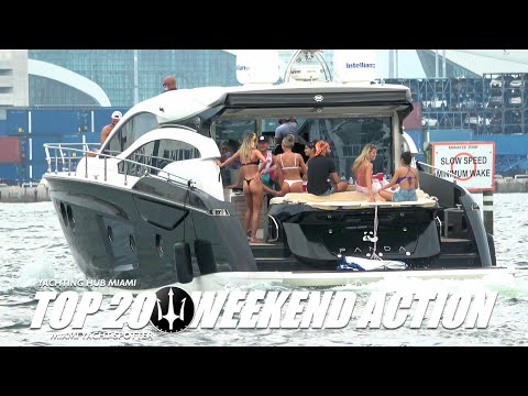 Top 20 Yachts on the Miami River / Bonus at minute 4 / Yachtspotter