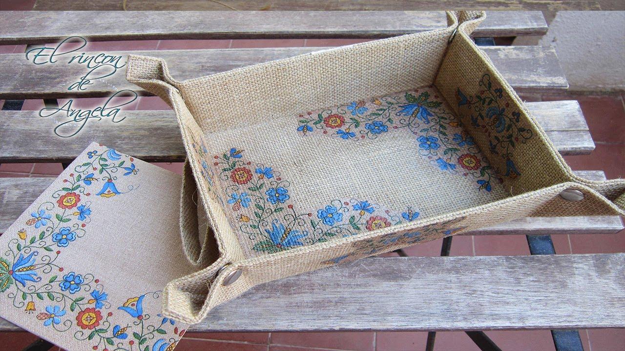 Decoupage f cil para principiantes decoupage en tela de - Saco arpillera ...