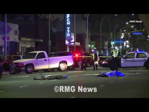 Man And Woman Struck By A Vehicle And Killed In Huntington Park, California.
