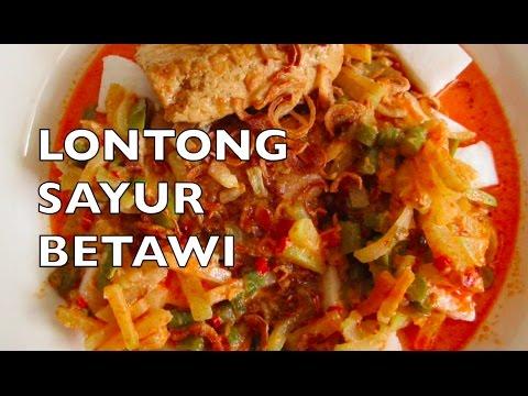 Lontong Sayur Betawi - Indonesian Vegetable Stew in Coconut Milk with Rice Cake II Cook Like Kayka