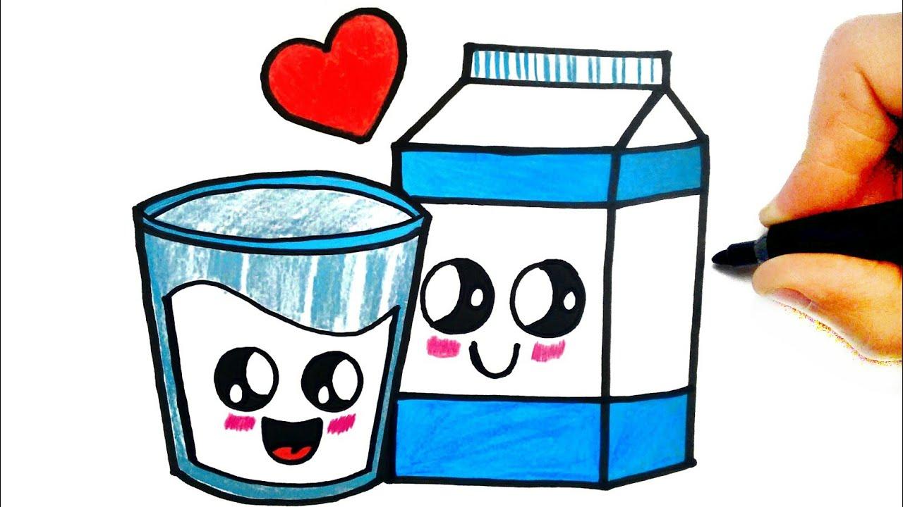 como desenhar copo de leite kawaii youtube