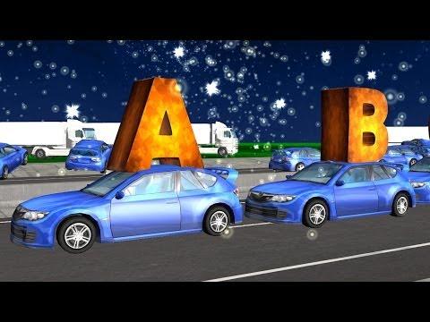ABC Alphabet Songs For Children  Nursery Rhymes Car Songs 3D For Kids  Children Nursery Rhymes