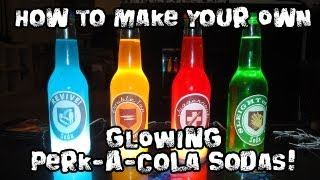 How to Make Your Own GLOWING Perk-A-Cola Sodas!