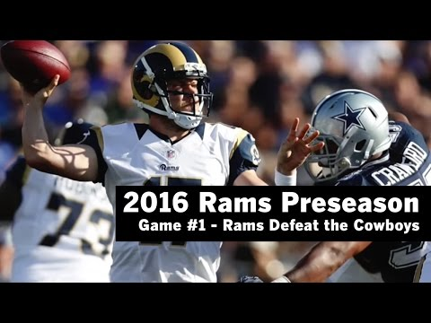 Jared Goff is sidelined in Rams preseason victory over Cowboys