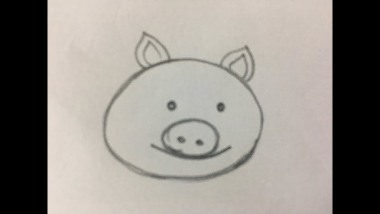 How To Draw Cartoon Pig Face Youtube