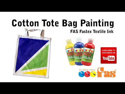 Paint a Cotton Tote Bag Lesson HD with FAS Fastex Textile Ink
