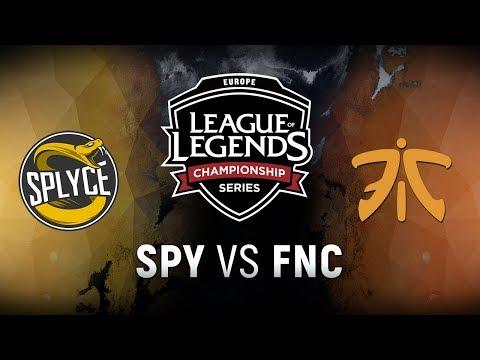 SPY vs. FNC - Week 5 Day 2 | EU LCS Spring Split |  Splyce vs. Fnatic (2018)