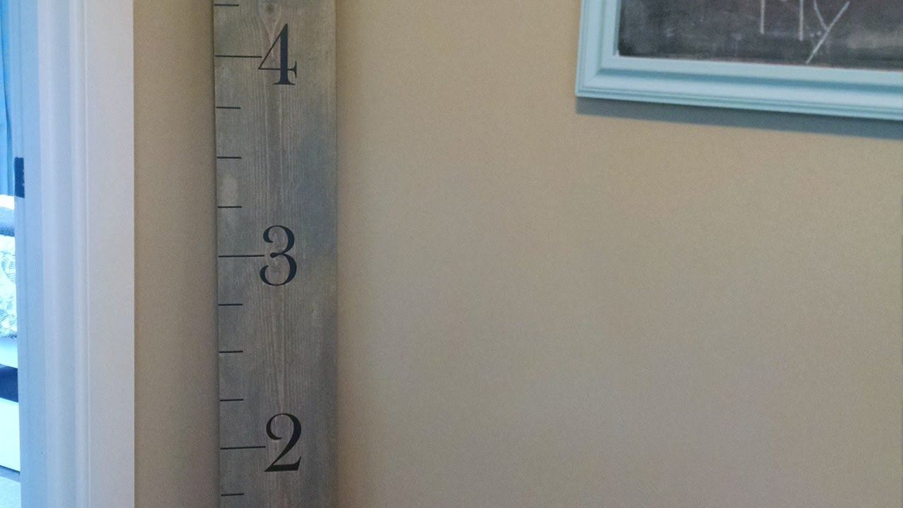 How To Create A Ruler Growth Chart Diy Home Tutorial