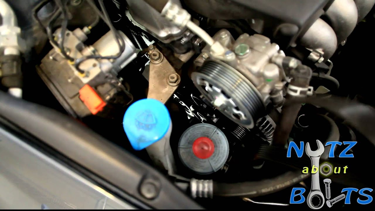 maxresdefault 2003 2012 honda accord serpentine belt replacement youtube 2009 Honda Civic Alternator Wiring Diagram at virtualis.co