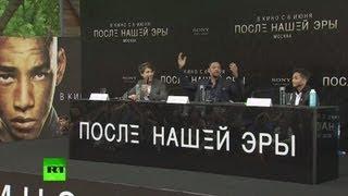 Уилл Смит и его сын Джейден представили в Москве новый фильм