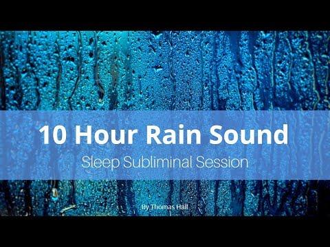 Chronic Pain Relief - (10 Hour) Rain Sound - Sleep Subliminal - By Thomas Hall