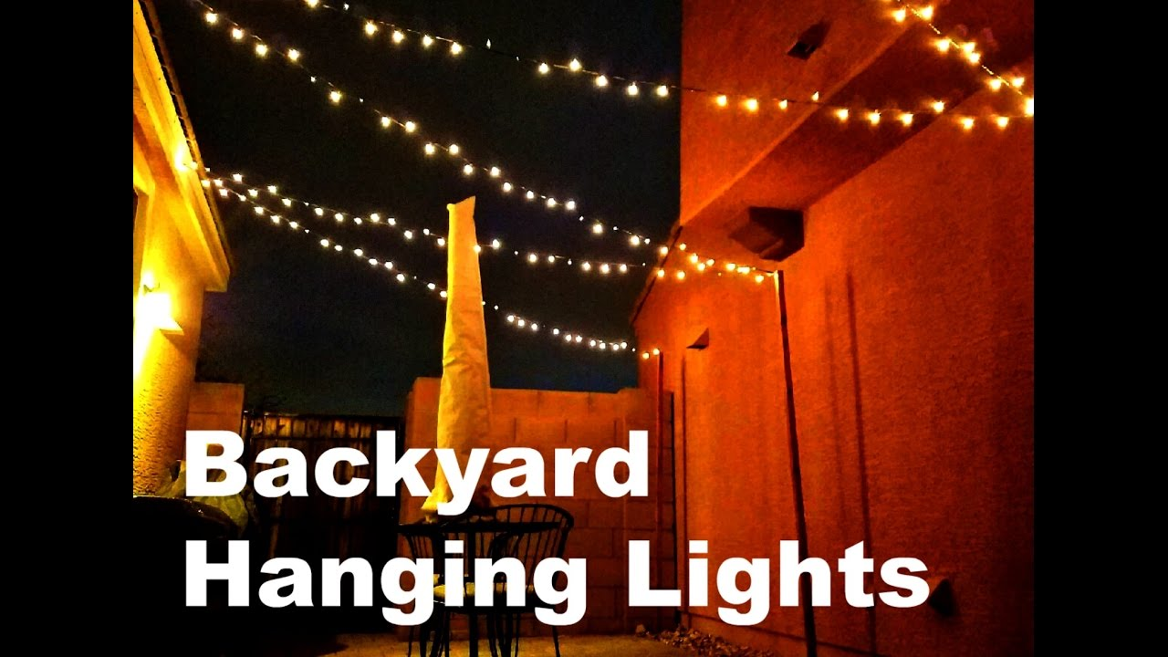 diy backyard patio lights youtube