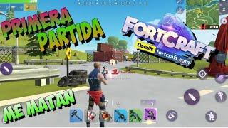 Fortnite para Android ( Fortcraft ) primera partida de prueba