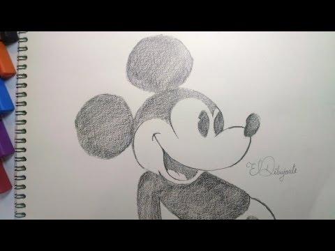 Como Dibujar a Mickey Mouse Vintage paso a paso.  [El Dibujante]