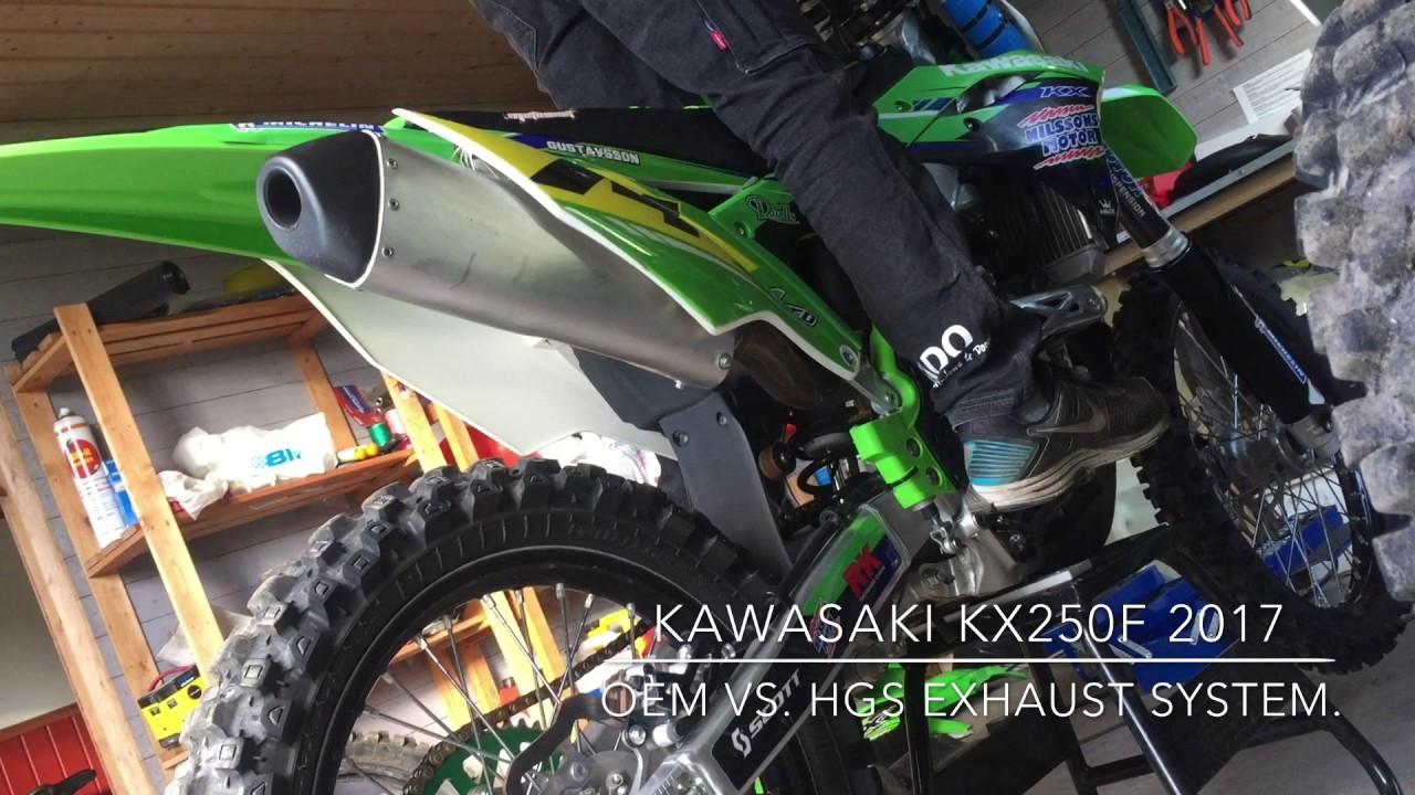 Kawasaki Kx250f 2017 Hgs Full Exhaust