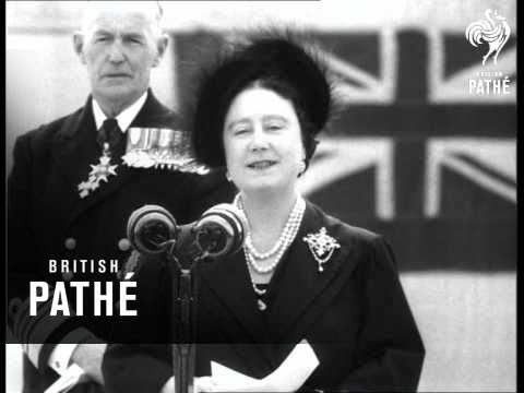Portsmouth - Queen Mother Unveils Memorial Aka Queen Mother Unveils Royal Naval Memorial (1953)