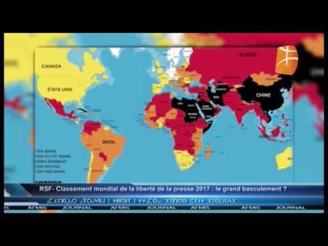 RSF- Classement mondial de la liberté de la presse 2017