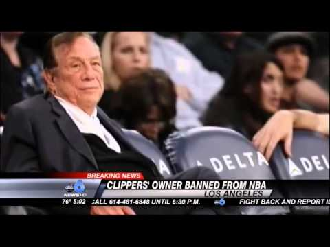 NBA's Sterling Banned for Life over Racist Comments