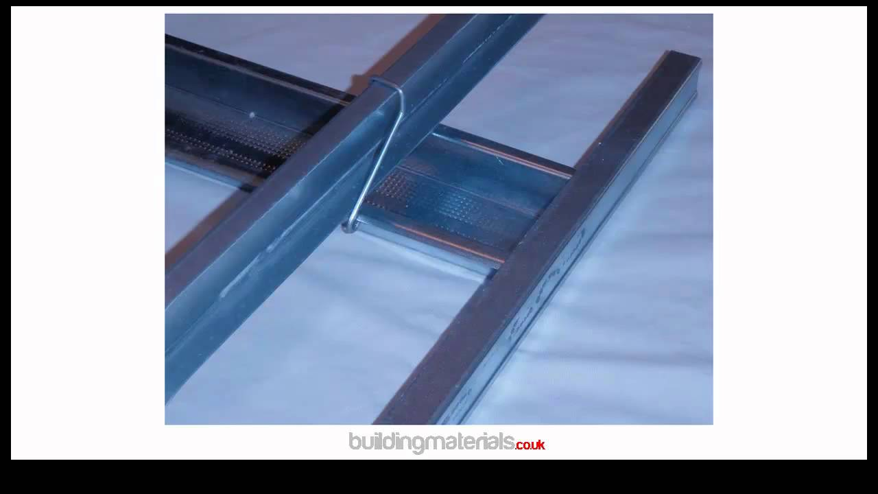 Mf Or Metal Furring Plasterboard Ceiling System Youtube
