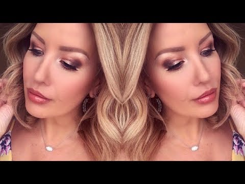 WARM AND GLOWY SUMMER MAKEUP TUTORIAL FOR DAYTIME OR DATE NIGHT