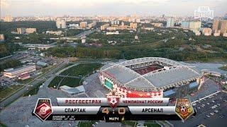 Обзор матча: Футбол. РФПЛ. 1-й тур. Спартак - Арсенал 4:0